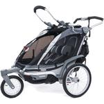 THULE 10101610 Chariot Chinook Two Child Bicycle Trailer with Strolling Kit - Black