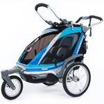 ThuleUSA 10101509  Chariot Chinook Single Bicycle Trailer with Strolling Kit - Aqua