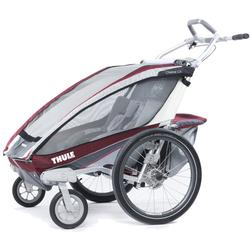 THULE 10101320 Chariot CX Two Child Bicycle Trailer with Strolling Kit - Burgundy