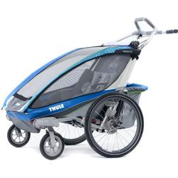 THULE 10101321 Chariot CX Two Child Bicycle Trailer With Strolling Kit - Blue
