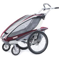 THULE 10101220 Chariot CX Single Bicycle Trailer With Strolling Kit - Burgundy