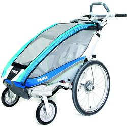THULE 10101221 - Chariot CX Single Bicycle Trailer With Strolling Kit - Blue