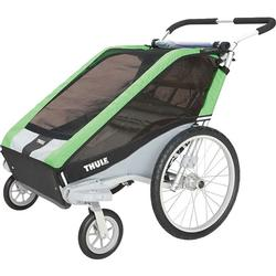 THULE 10100817 Chariot Cheetah Two Child Bicycle Trailer with Strolling Kit - Green