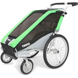 THULE 10100422 Chariot Cheetah Single Bicycle Trailers with Strolling Kit - Green