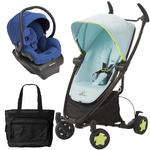 Quinny - Zapp Xtra Folding Seat Travel System with Mico AP Car Seat and Bag - Blue