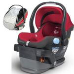 UPPAbaby MESA Car Seat with Cabana Car Seat Shade - Denny (Red)