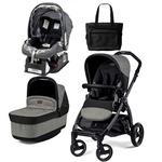 Peg Perego - Book Pop Up Stroller in Atmosphere with Primo Viaggio sip 30/30 Car Seat And Diaper Bag