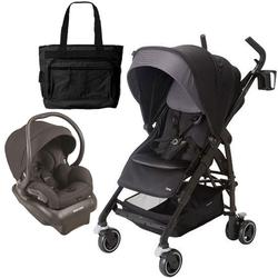 Maxi-Cosi CV258BIZK Dana Stroller - Devoted Black With Carseat and Bag