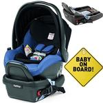 Peg Perego - Primo Viaggio 4-35 Mod Bluette With Base and Baby on Board Sign