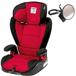 Peg Perego - Viaggio HBB 120 Car Seat Rouge With Backseat Mirror