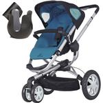 Quinny CV155BFWK Buzz 3 Stroller - Blue Scratch w/ Cup Holder