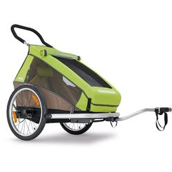 Croozer Kid For 1  Bicycle Trailer Meadow Green / Sand Grey