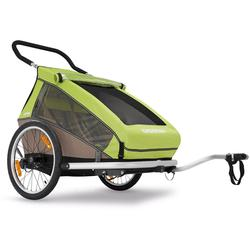 Croozer Kid For 2  Bicycle Trailer Meadow Green / Sand Grey
