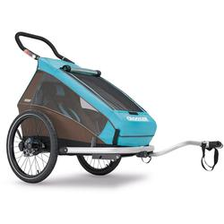 Croozer Kid Plus For 1 Kid For 1  Bicycle Trailer Sky Blue- Brown