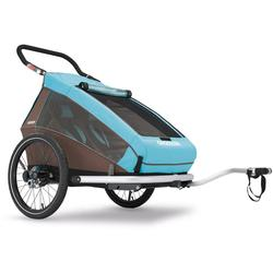 Croozer Kid Plus For 2 Bicycle Trailer Sky Blue- Brown