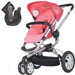 Quinny CV155BFXK10 Buzz 3 Stroller With Cup Holder - Pink Blush