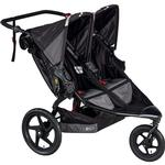 BOB - Revolution FLEX Duallie Double Stroller with Bag - Black/Black