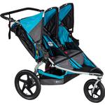 BOB - Revolution FLEX Duallie Double Stroller with Bag - Lagoon/Silver