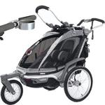 ThuleUSA Chariot Chinook  Single Bicycle Trailer with Strolling Kit and Cup Holder - Black