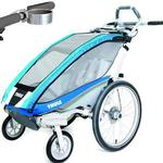ThuleUSA Chariot CX Single Bicycle Trailer with Strolling Kit and Cup Holder - Blue