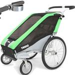 ThuleUSA Chariot Cheetah Single Bicycle Trailer with Strolling Kit and Cup Holder - Green