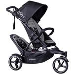Phil & Teds Dot Double Stroller with Second Seat - Graphite
