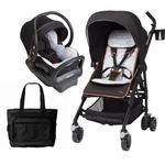 Maxi Cosi Special Edition City Motif Dana Stroller and Mico Max 30 Car Seat Travel System with FREE Diaper Bag
