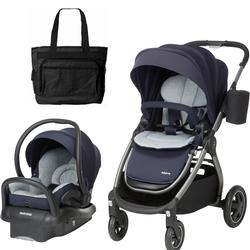 Maxi-Cosi Adorra Travel Brilliant Navy Travel System with Bonus Diaper Bag