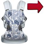 Baby Bjorn 093054US Baby Carrier One with FREE Safety Reflector - Leaf Print/Pale Blue