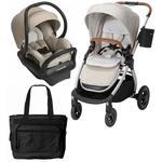 Maxi-Cosi Adorra Stroller Mico Max 30 Infant Car Seat Travel System - Nomad Sand with BONUS Diaper Bag