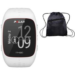 Polar M430 Wrist-Based Heart Rate GPS Running Watch White with Cinch Bag