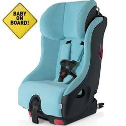 Foonf  by Clek -  Car Seat with Baby On Board Sign - Capri