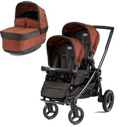 Peg Perego Team Stroller w/ 2nd Popup Seat - Terracotta