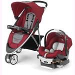 Chicco 07079747930070 Viaro Stroller Travel System - Cranberry