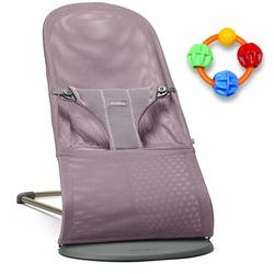Baby Bjorn Bliss Bouncer Mesh - Lavender Violet with Click Clack Balls Teether