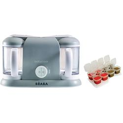 Beaba Babycook Plus 4 in 1 Steam Cooker and Blender - Cloud with BONUS 2oz/70 ml Baby Cubes