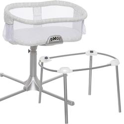 Halo - Swivel Sleeper Bassinet, Premiere Series with a Portable Stand - Classic Damask