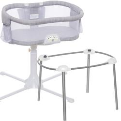 Halo - Swivel Sleeper Bassinet - Luxe PLUS Series with a Portable Stand  - Gray Melange