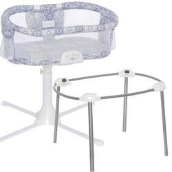 Halo - Swivel Sleeper Bassinet - Luxe Series with a Portable Stand - Blue Medallion