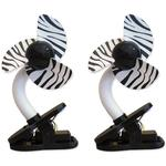 DreamBaby Clip-on Stroller Fan 2 Pack - Zebra
