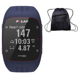 Polar M430 Wrist-Based Heart Rate GPS Running Watch Blue/Medium/Large with Cinch Bag