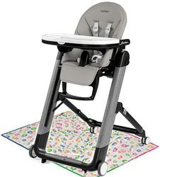 Peg Perego Siesta High Chair - Ambiance Grey with Splat Mat
