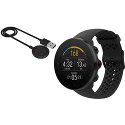 Polar Vantage M Multi Sport GPS Heart Rate Watch - Black with USB Charging Cable (M/L)