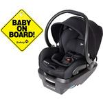 Maxi-Cosi Mico Max Plus PureCosi Infant Car Seat - Onyx Bliss with BONUS Baby on Board Sign