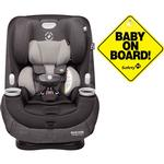 Maxi-Cosi Pria Max 3-in-1 Convertible Car Seat - Nomad Black with Baby on Board Sign