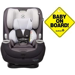 Maxi-Cosi Pria 3-in-1 Convertible Car Seat - Blackened Pearl with Baby on Board Sign