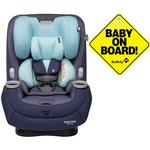 Maxi-Cosi Pria 3-in-1 Convertible Car Seat - Arctic Mist with Baby on Board Sign
