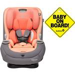 Maxi-Cosi Pria 3-in-1 Convertible Car Seat - Peach Amber with Baby on Board Sign