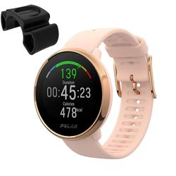 Polar Ignite GPS Heart Rate Monitor Watch - Pink/Rose (Small) with BONUS Bike Mount