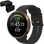 Polar Ignite GPS Heart Rate Monitor Watch - Black/Copper (M/L) with BONUS Bike Mount